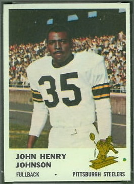 John Henry Johnson 1961 Fleer football card