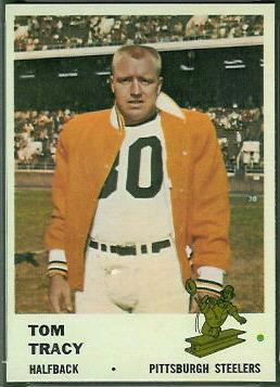 Tom Tracy 1961 Fleer football card