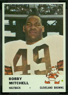 Bobby Mitchell 1961 Fleer football card