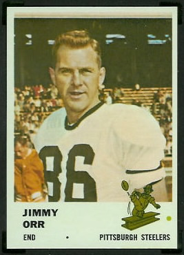 Jimmy Orr 1961 Fleer football card