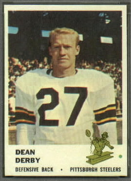 Dean Derby 1961 Fleer football card