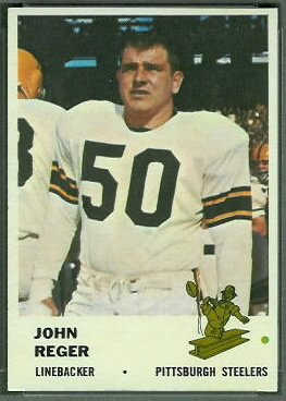 John Reger 1961 Fleer football card