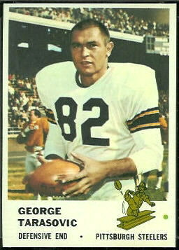 George Tarasovic 1961 Fleer football card