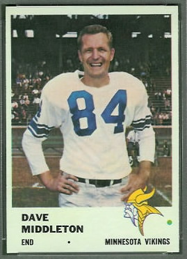 Dave Middleton 1961 Fleer football card