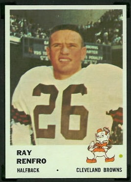 Ray Renfro 1961 Fleer football card