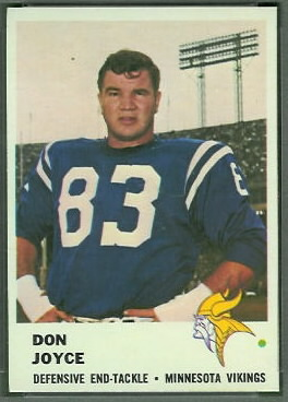 Don Joyce 1961 Fleer football card