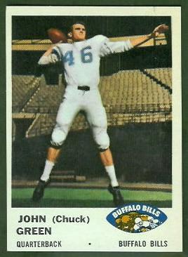 Chuck Green 1961 Fleer football card