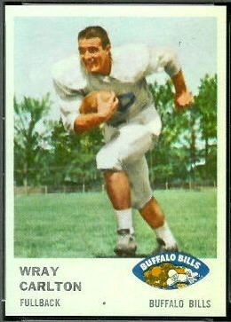 Wray Carlton 1961 Fleer football card