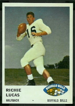 Richie Lucas 1961 Fleer football card