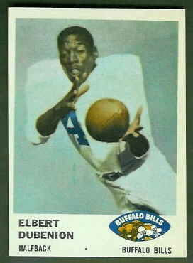 Elbert Dubenion 1961 Fleer football card