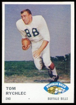 Tom Rychlec 1961 Fleer football card