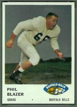 Phil Blazer 1961 Fleer football card