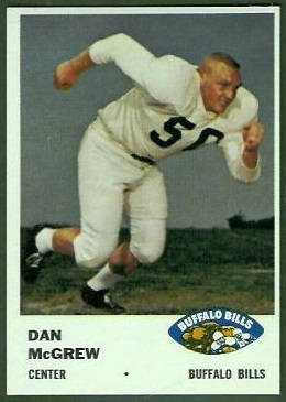 Dan McGrew 1961 Fleer football card