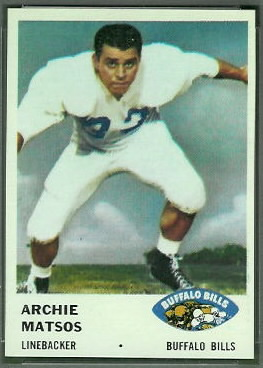 Archie Matsos 1961 Fleer football card