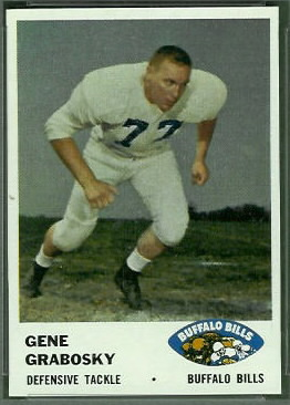 Gene Grabosky 1961 Fleer football card
