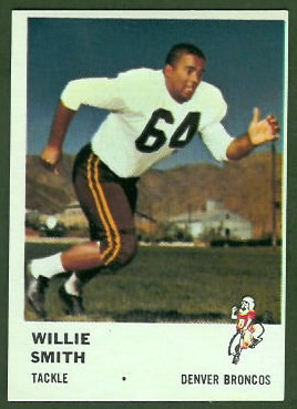 Willie Smith 1961 Fleer football card