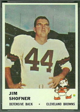 Jim Shofner 1961 Fleer football card