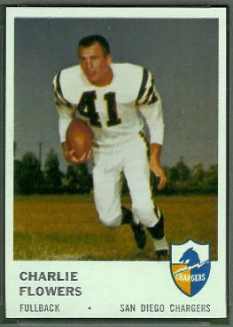 Charlie Flowers 1961 Fleer football card