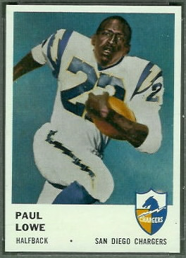 Paul Lowe 1961 Fleer football card