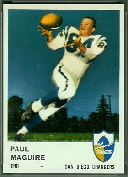 Paul Maguire 1961 Fleer football card