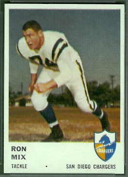 Ron Mix 1961 Fleer football card