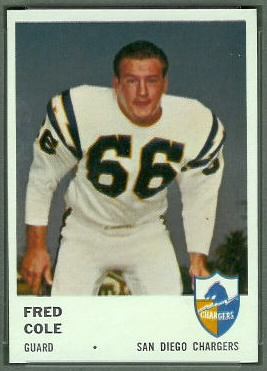 Fred Cole 1961 Fleer football card