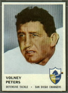 Volney Peters 1961 Fleer football card