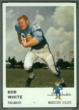 Bob White 1961 Fleer football card