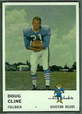 Doug Cline 1961 Fleer football card