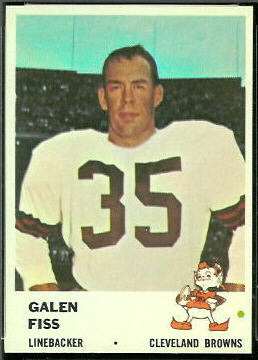 Galen Fiss 1961 Fleer football card