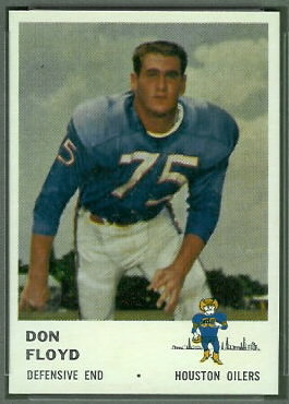 Don Floyd 1961 Fleer football card