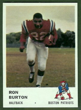 Ron Burton 1961 Fleer football card