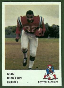 Ron Burton 1961 Fleer football card