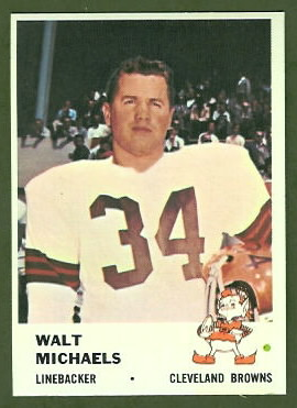 Walt Michaels 1961 Fleer football card