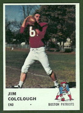 Jim Colclough 1961 Fleer football card