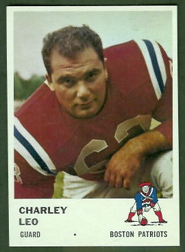 Charley Leo 1961 Fleer football card