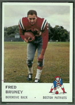 Fred Bruney 1961 Fleer football card