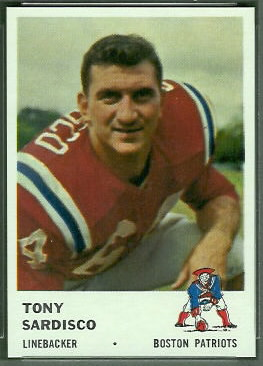Tony Sardisco 1961 Fleer football card