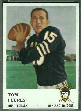 Tom Flores 1961 Fleer football card