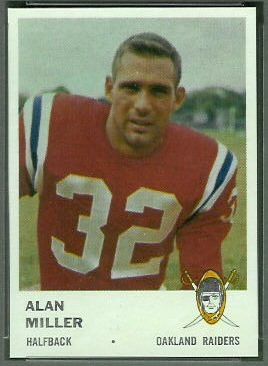 Alan Miller 1961 Fleer football card