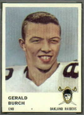Gerald Burch 1961 Fleer football card