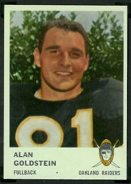 Alan Goldstein 1961 Fleer football card