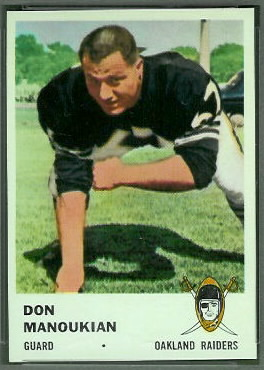Don Manoukian 1961 Fleer football card