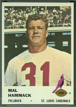 Mal Hammack 1961 Fleer football card