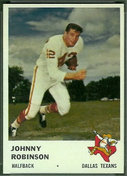 Johnny Robinson 1961 Fleer football card
