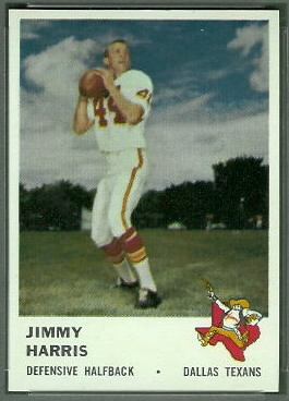 Jimmy Harris 1961 Fleer football card