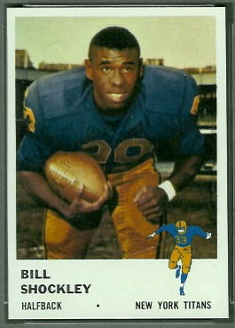 Bill Shockley 1961 Fleer football card