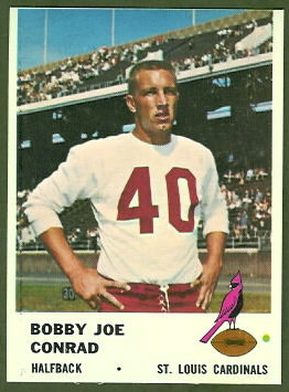 Bobby Joe Conrad 1961 Fleer football card