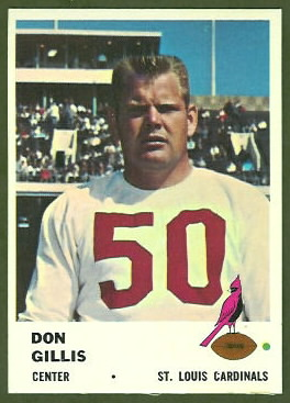 Don Gillis 1961 Fleer football card