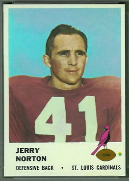 Jerry Norton 1961 Fleer football card